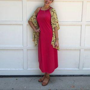 Pink Maxi Swing Dress